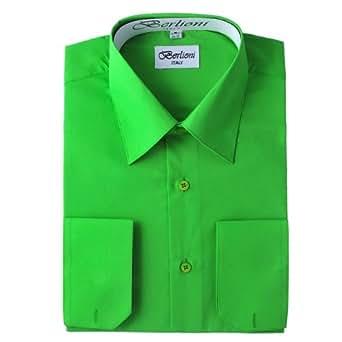 Elegant men 39 s button down apple green dress shirt 2xl 18 for Apple green dress shirt