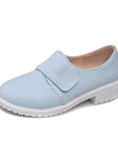 NJX/ hug Damenschuhe - High Heels - Kleid - Kunstleder - Blockabsatz - Rundeschuh - Blau / Weiß blue-us6 / eu36 / uk4 / cn36