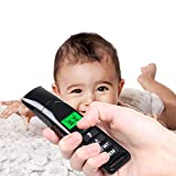 HTHJSCO LCD Display Thermometer Medical Digital Ear and Forehead Thermometer with Memory Function Non-Contact Compact Temperature Tester
