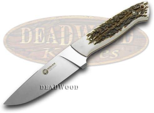 BOKER ARBOLITO Genuine Deer Stag El Trampero Ciervo Fixed Blade Knife Knives