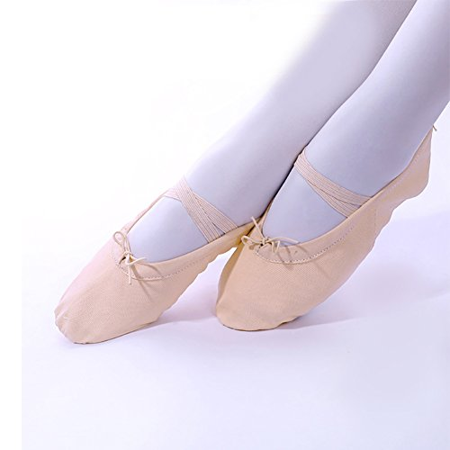 ... Zerlar Split Semelle Toile Ballet Chaussures De Danse Pantoufle Yoga  Appartements Pour Les Filles Femmes Adultes ... 847f2f48586e