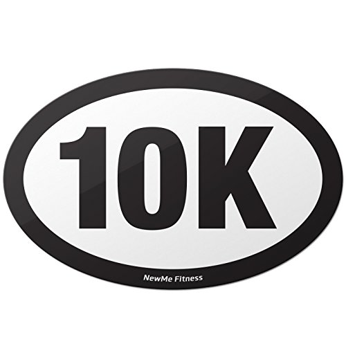 Bike Route Sign Charm (10K Ten Kilometers Oval Car Magnet for Distance Runners, Trail Running | Stick it to Your Vehicle or its Bumper | Fitness & Runner Enthusiast)