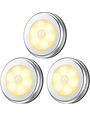 Motion Sensor Lights, Battery-Powered LED Night Light Safety Lamp Step Lights Under Cabinet Lights for Stair, Bathroom, Closet, Hallway, Path