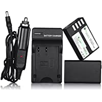 Powerextra 2 Pack Replacement Pentax D-LI109 Li-ion Battery With Charger for Pentax K-R, K-30, K-50, K-500, K-S1, K-S2 Camera