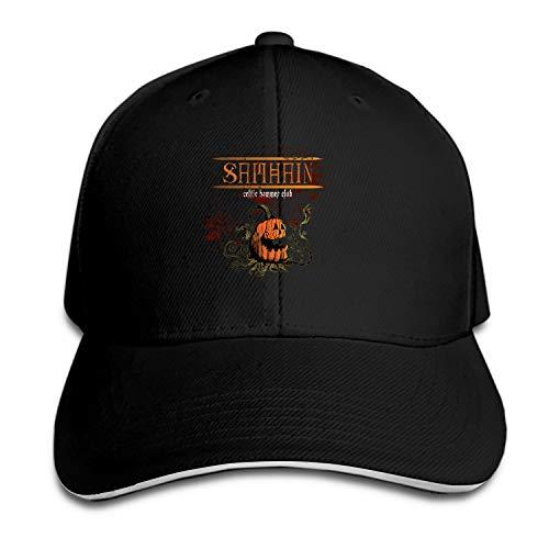 Peaked hat Samhain Celtic Halloween Printed Sandwich Baseball Cap for Unisex Adjustable Hat