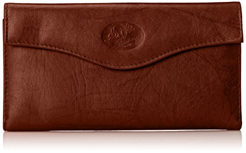 Buxton Heiress Organizer Clutch, Mahogany, One - Wallets Buxton Ladies