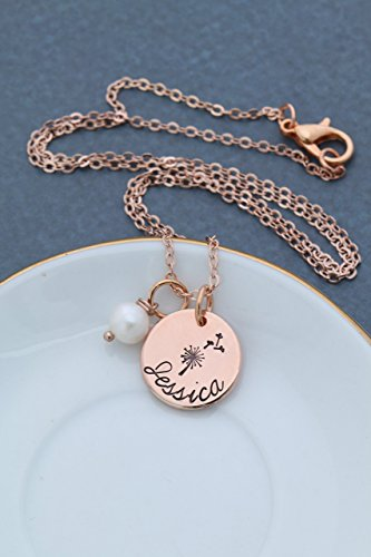 Rose Gold Dandelion Wish Gift Necklace - DII AAA - Little Gi