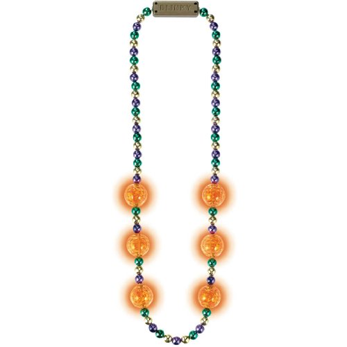 (Blinking Light-Up Bead Party Necklace, 42