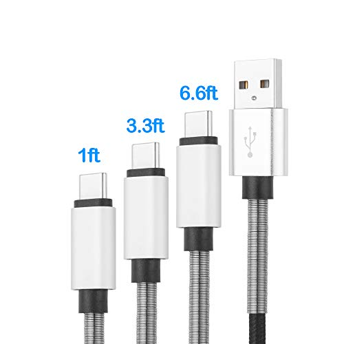 - CyvenSmart USB C Cable, (3ft2, 6ft2, 10ft2) USB A to USB-C Fast Charger Nylon Braided Charging Cord Compatible with Samsung Galaxy Note 9 S9 S8 Plus Note 8, LG V30 G6 G5, Pixel, Nintendo Switch
