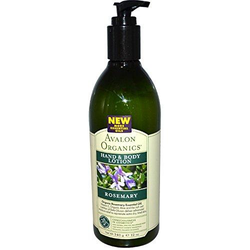 Avalon Organics, Hand & Body Lotion, Rosemary, 12 oz (340 ml) - 2pc