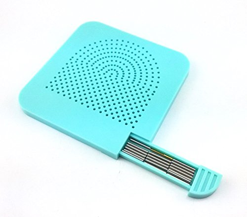 Honbay Square Shape Quilling Board Grid Guide with Pins Storage for Paper Crafting Winder Craft DIY Tool (Blue)