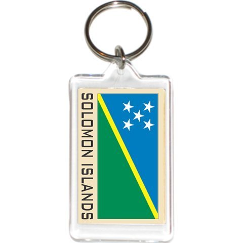 - Acrylic KeyChains KeyRings Holders - Asia & Africa Grp 3 (12-Pack, Country: Solomon Islands)