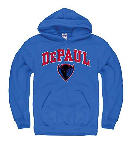 a2e35c547 Campus Colors DePaul Blue Demons Arch   Logo Gameday Hooded Sweatshirt -  Roy.