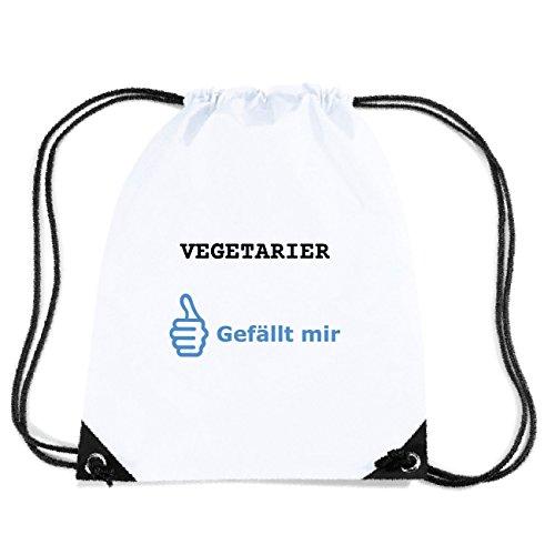 JOllify VEGETARIER Turnbeutel Tasche GYM6114 Design: Gefällt mir