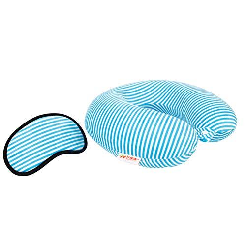 CHUANGLI Soft Plush Stripe U-Shaped Pillow Memory Cotton Tra