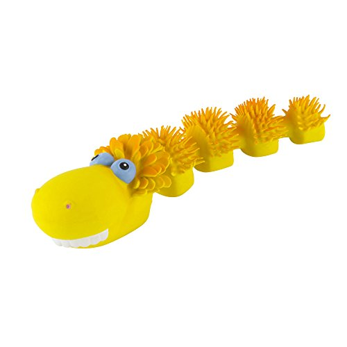 Squeaky Dog Toy for Small Dogs (Sensory Snake).100% Natural Rubber (Latex). Lead-Free & Chemical-Free. Complies to Same Safety Standards as Childrens Toys. Soft, Squeaky, unstuffed.