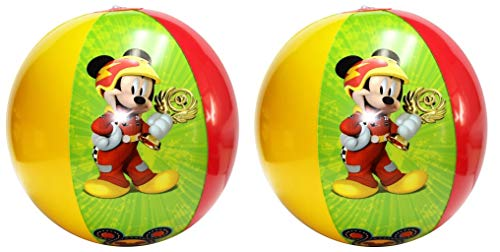 (Disney Inflatable Beach Balls - 2 Pack - Mickey Mouse, Donald Duck and)
