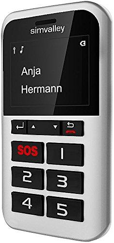 simvalley MOBILE 5-Tasten-Handy Pico RX-901 mit Garantruf Premium