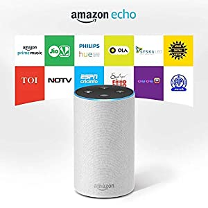 Certified Refurbished Amazon Echo - Smart speaker with Alexa | Powered by Dolby - White