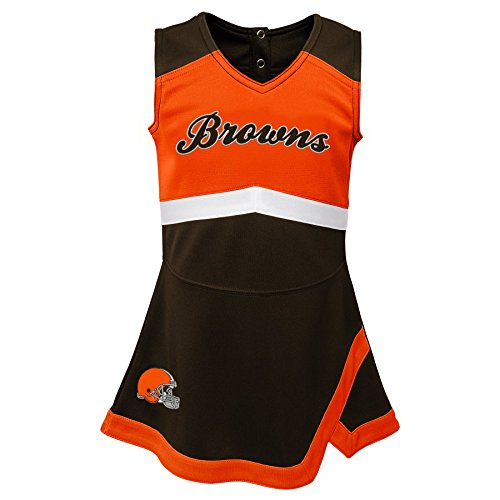 Outerstuff NFL NFL Cleveland Browns Infant Cheer Captain Jumper Dress Brown Suede, 24 Months