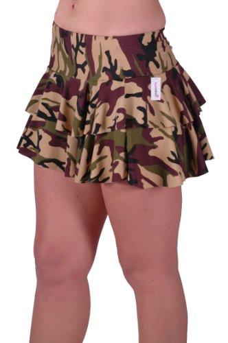 a motif Jupe EyeCatch courte militaire Annie volants Femme camouflage 1q6n7w