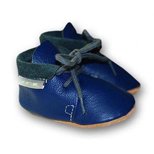 Babyschuhe Retro Leder dunkelblau Gr. M