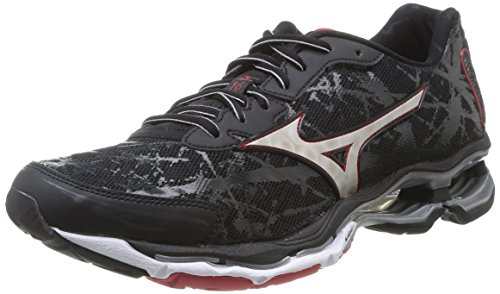 Chinesered Scarpe Black Creation 16 Silver Wave Sportive Chinesered Mizuno Silver Black Uomo 4PHaSq