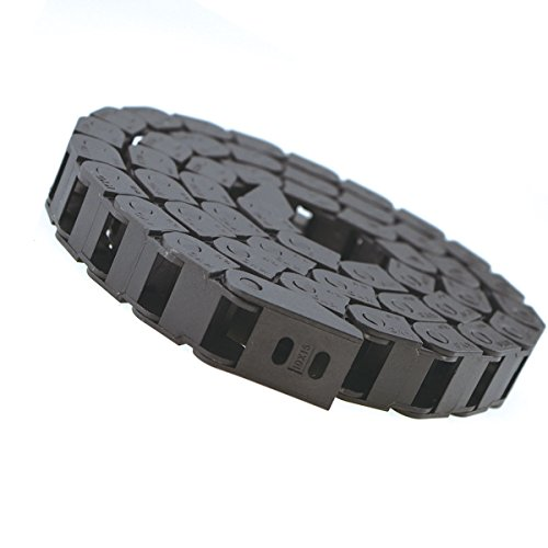 URBEST Plastic Drag Chain Cable Carrier with End Connectors for Electrical CNC Router Machines 10 x 15mm Black