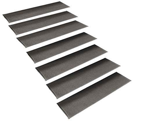 - StepBasic Non-Slip Rubber Backing Resistant Carpet Stair Gripper Set of 7 - Gray ( 8.5