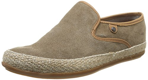 Base London Sound, Men Loafers Beige (Suede Taupe)