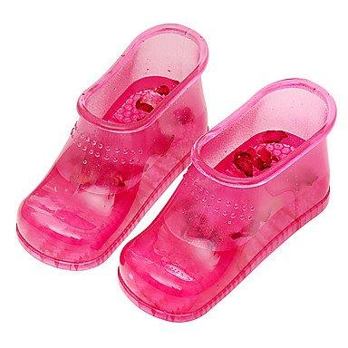 Botas de mujer primavera otoño comodidad talón plano ocasional de PVC Ruby