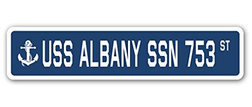 USS アルバニー SSN 753 ストリートサイン アメリカ海軍退役軍人セーラーギフト 7