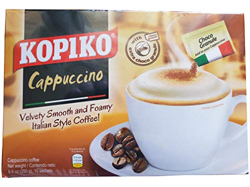 Kopiko Cappucinno Instant Coffee with Choco Ganule