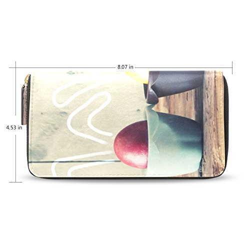Womens Easter Eggs Pattern Long Wallet & Purse Case Card Holder
