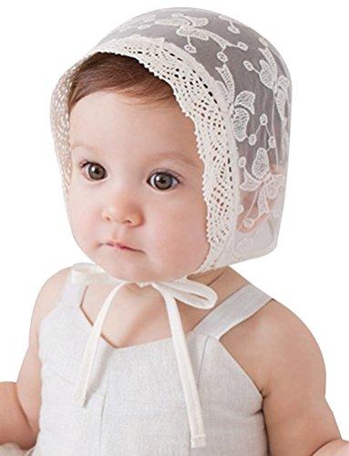Pink Lace Hat - Baby Girls Trimmed Breathable Bonnet Hat Sun Hat