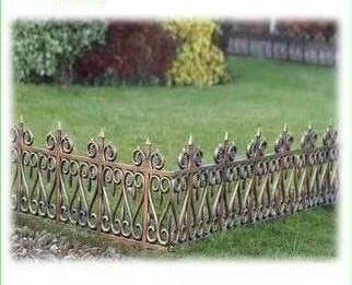 Garden Edging Fence/ Border/ Wrought Iron Look/ New