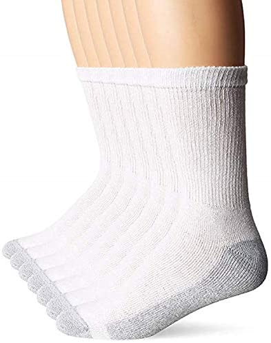 Hanes Men's FreshIQ X-Temp Comfort Cool Crew Socks, 6-Pack