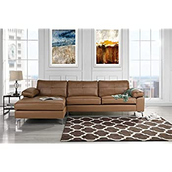 Amazon Com Leather Sectional Sofa L Shape Couch With