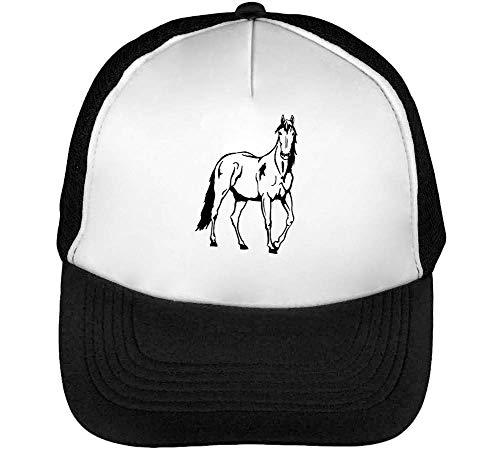 Sticker Standing Beisbol Car Hombre Blanco Horse Gorras Snapback Negro 7EqYqdw
