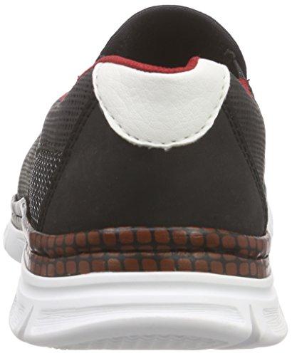 Rieker B4870 Loafers & Mocassins-men - Mocasines Hombre Negro - Schwarz (schwarz/schwarz/weiss / 00)