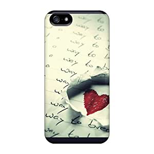 CADike Iphone 5/5s Hybrid PC Case Cover Silicon Bumper Love Find Its Way
