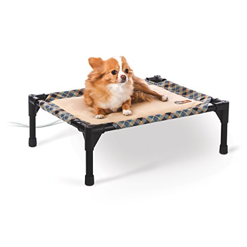 K&H Pet Products Thermo-Pet Cot - Heated Elevated Pet Bed - MET Safety Listed - Includes Removable Heater (Thermo Kitty Cat Heated)
