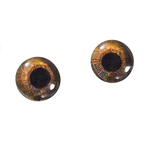 10mm Redtail Hawk Glass Eyes Doll Irises for Art Polymer Clay Taxidermy (Glass Eyes Toys Dolls)