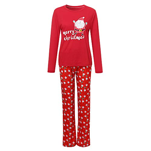 Forthery Family Matching Christmas Pajamas Holiday Plaid Flannel Santa Claus Pajamas PJs Sets(Red 3, Monther-XL)
