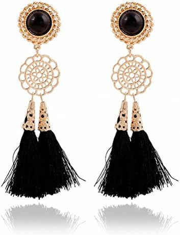 megko Vintage Bohemia Long Tassel Drop Earrings Earings for Women