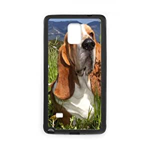 Basset-Hound Samsung Galaxy Note 4 Cell Phone Case Black