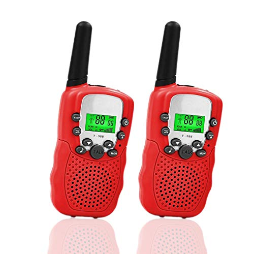 Happy Gift Toys for 7 8 Year Old Boys,Long Range Kids Walkies Talkies for Outdoor Travel Hunting Boy Gifts Age 3-12 Girls&Gifts Age 3-12(Red 01)
