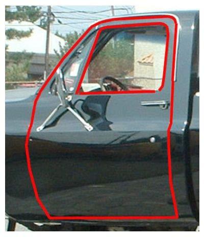 Window Sweep Felt Weatherstrip Set for GMC Chevy 1500 Jimmy Pickup Truck C10 K10