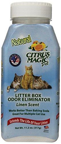 Citrus Magic Litter Box Odor Eliminator Shaker Bottle, 11.2-Ounce, Linen ()