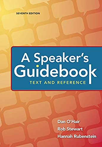 a speaker s guidebook text and reference dan o hair rob stewart rh amazon com The Enduring Vision Fifth Edition Fifth Edition Foes
